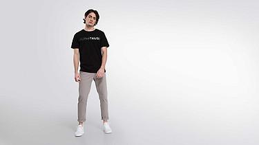 JIGU V1.Y1.02 Logo T-shirt black Front Main Alpha Tauri