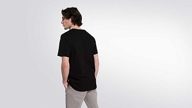 JIGU V1.Y1.02 Logo T-shirt black Front Alpha Tauri