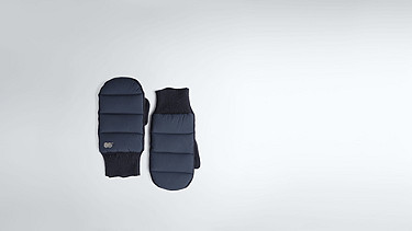 ALKE Wool-cashmere Gloves navy Back Alpha Tauri