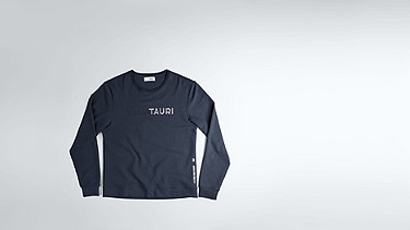 SALT V1.Y1.02 Cotton-Bamboo Mix Sweater navy / melange Back Alpha Tauri