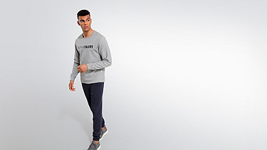 SALT V1.Y1.02 Cotton-Bamboo Mix Sweater grey / melange Front Main Alpha Tauri