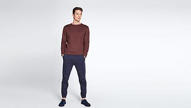 SPOC V1.Y1.02 Sweatshirt mit Rundhals-Ausschnitt bordeaux Haupt Vorne Alpha Tauri