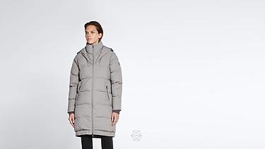 ODAR V1.Y1.02 Long Padded Taurex® Coat with Primaloft® Filling grey Alpha Tauri