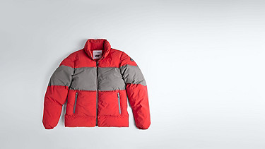 OKLA V1.Y1.02 Padded Jacket with Primaloft® Filling red / grey Back Alpha Tauri