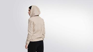 LYNN V2.Y1.02 Hooded Leather Jacket offwhite Front Alpha Tauri