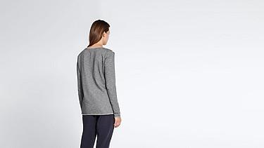JOKA V2.Y1.02 Roll-hem T-shirt grey / melange Front Alpha Tauri