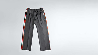 POLA V1.Y1.02 Wide-leg Tracksuit Pants grey / melange Back Alpha Tauri