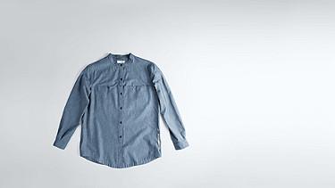 WEGA V1.Y1.02 Bluse mit tiefem Kragen blue Hinten Alpha Tauri