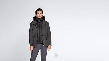 OSMA V1.Y1.02 Two-piece Taurex® Leather-detail Jacket dark grey / anthracite Alpha Tauri