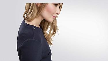 SADI V1.Y1.02 Logo Sweatshirt navy / melange Vorne Alpha Tauri