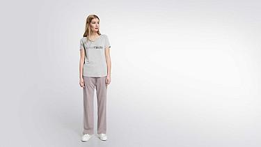 JONU V1.Y1.02 Logo T-shirt grey / melange Front Alpha Tauri