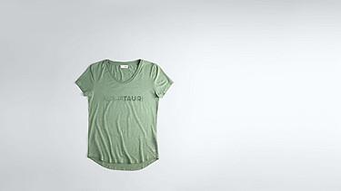 JONU V1.Y1.02 Logo T-shirt green Back Alpha Tauri