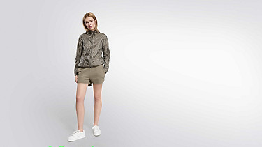 OCHI V1.Y1.02 Leichte Packable Jacke camouflage Haupt Vorne Alpha Tauri