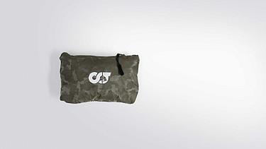 OCHI V1.Y1.02 Leichte Packable Jacke camouflage Hinten Alpha Tauri