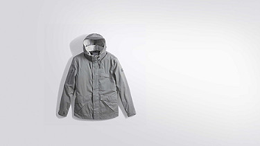 OXOM V1.Y2.01 Reflective Taurex® Jacket grey Back Alpha Tauri