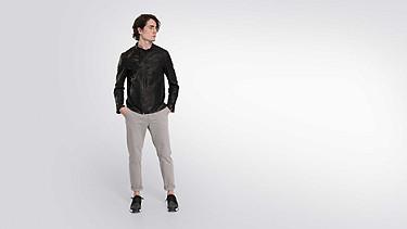 LOKI V1.Y2.01 Biker-Jacke aus Leder black Haupt Vorne Alpha Tauri