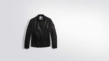 LOKI V1.Y2.01 Biker Leather Jacket black Back Alpha Tauri