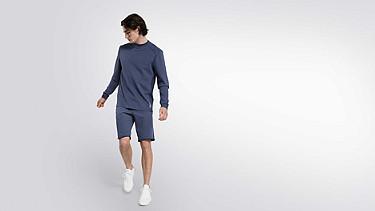 SAUL V1.Y2.01 Taurex® Sweatshirt blue Haupt Vorne Alpha Tauri
