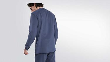 SAUL V1.Y2.01 Taurex® sweater blue Front Alpha Tauri