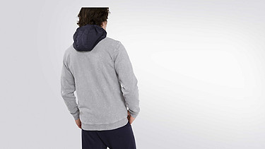 SOLF V4.Y2.01 Acid-Wash Sweat Jacket grey Back Alpha Tauri