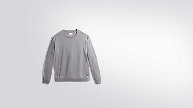 FURA V1.Y2.01 Wasserabweisender Merino Pullover grey / melange Hinten Alpha Tauri