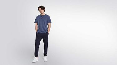 JASO V1.Y2.01 Taurex® T-Shirt with Tape Detail blue Front Main Alpha Tauri