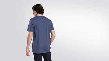 JASO V1.Y2.01 Taurex® T-Shirt with Tape Detail blue Front Alpha Tauri