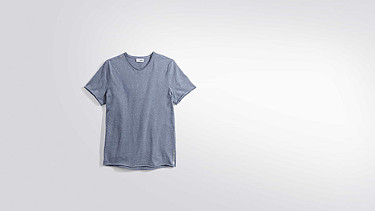 JONA V1.Y2.01 Raw Neck V-Neck T-Shirt blue Back Alpha Tauri