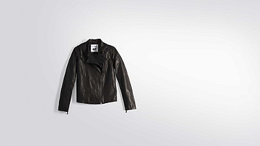 LAAK V1.Y2.01 Leather biker jacket black Back Alpha Tauri