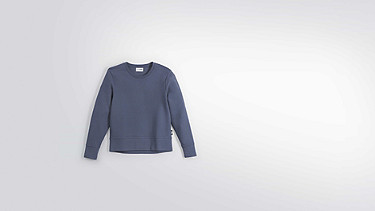 SONA V1.Y2.01 Taurex® Ribbed Sweatshirt blue Back Alpha Tauri
