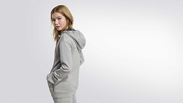 SILV V1.Y2.01 Long Sweat Jacket grey / melange Front Alpha Tauri