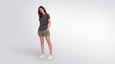 JALP V1.Y2.01 Taurex® Print T-Shirt  dark grey Front Main Alpha Tauri