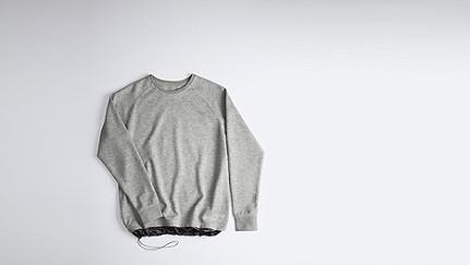 STYX V1.Y0.01 Relaxed Raglan Sweatshirt grey / melange Back Alpha Tauri