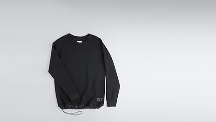 STYX V1.Y0.01 Relaxed Raglan Sweatshirt black Back Alpha Tauri