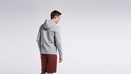 SETH V1.Y0.01 Soft Zip-up Hoody grey / melange Front Alpha Tauri