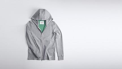 SETH V1.Y0.01 Soft Zip-up Hoody grey / melange Back Alpha Tauri