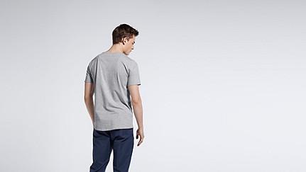 JASP V1.Y0.01 V-neck T-shirt grey / melange Front Alpha Tauri