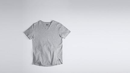 JASP V1.Y0.01 V-neck T-shirt grey / melange Back Alpha Tauri