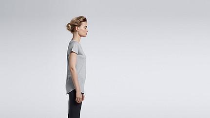 JUNO V1.Y0.01 Melange T-shirt grey / melange Front Main Alpha Tauri