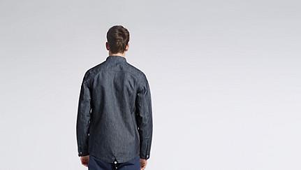 OSYP V1.Y0.02 Modern Denim Jacket blue Front Alpha Tauri