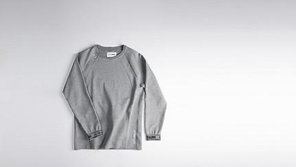 STOE V1.Y0.02 Herobranding Sweatshirt grey Back Alpha Tauri