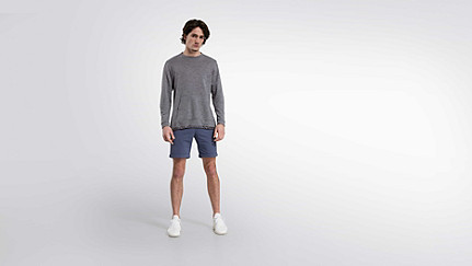 FOSH V1.Y0.02 Relaxed Wool Sweatshirt grey Front Main Alpha Tauri