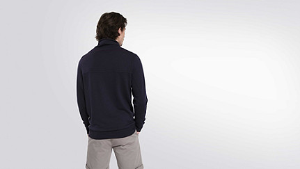 FARO V1.Y0.02 Relaxed Wool Turtleneck navy Front Alpha Tauri