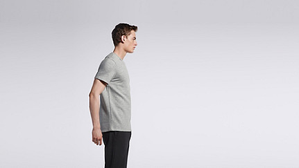 JUJO V1.Y0.02 Short-sleeved T-shirt grey Front Main Alpha Tauri