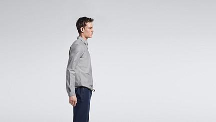 WIDT V1.Y0.02 Oxford Shirt grey Front Main Alpha Tauri