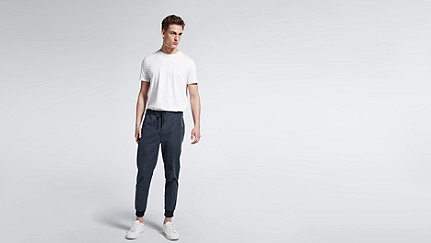 PORI V1.Y0.02 Tapered Pants navy Front Main Alpha Tauri