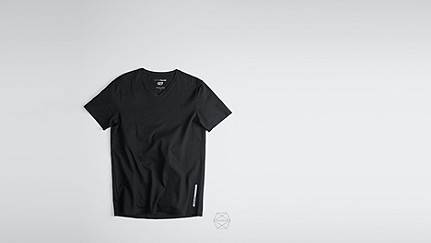 BUCK Taurex® V-neck T-shirt black Back Alpha Tauri