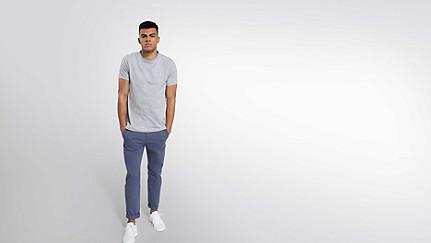 BARU Taurex-T-Shirt mit Rundausschnitt grey / melange Haupt Vorne Alpha Tauri
