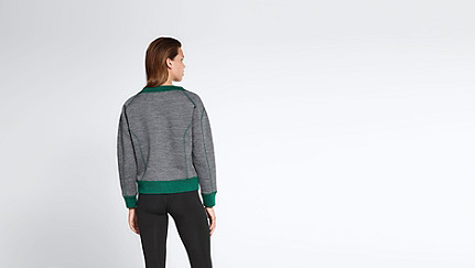SVEA V1.Y0.02 Boxy V-neck Sweater dark grey / anthracite Front Alpha Tauri