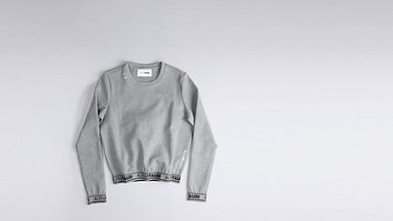 SAJI V1.Y0.02 Impact Sweatshirt grey Back Alpha Tauri